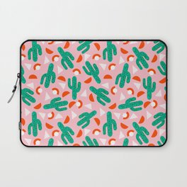 Red Hot - cactus southwest desert palm springs retro neon throwback 1980s style minimal plants Laptop Sleeve