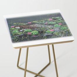 Mermaid,lilypads Side Table