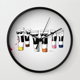 Reservoir Colours (with blood and light colored t-shirts) Wall Clock