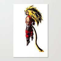 vegeta Canvas Prints featuring SS3 Vegeta by Prince Of Darkness