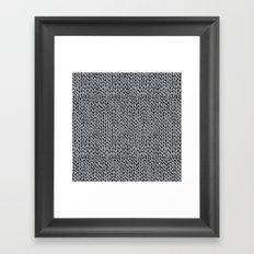 Hand Knit Grey And Black Framed Art Print