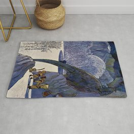 King Mouselet and Prince Youth by Artus Schneider Rug