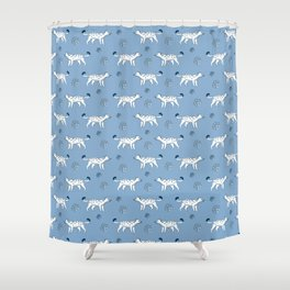 snow leopard pattern Shower Curtain