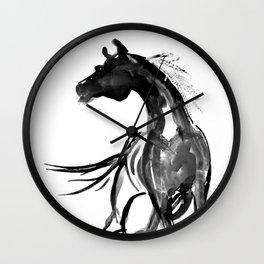 Horse (Ink sketch) Wall Clock