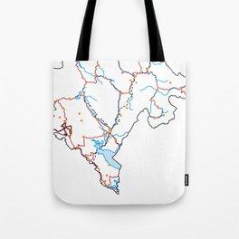 Montenegro Map Tote Bag