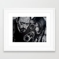 leon Framed Art Prints featuring LEON by waynemaguire777