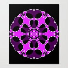 Lavender Tube in Cube Snowflake Canvas Print