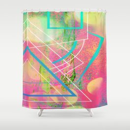 Concentric Surrealism Shower Curtain