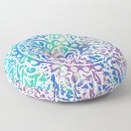 Heart Flower Blue Floor Pillow