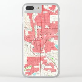 Vintage Map of Colorado Springs CO (1961) Clear iPhone Case