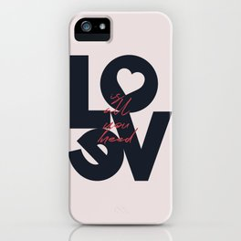 All you need is love, The Beatle music quote, Valentine's Day, just married, couples gift, present iPhone Case