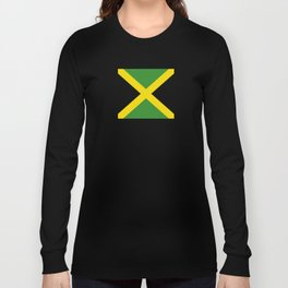 Flag of Jamaica-Jamaican,Bob Marley,Reggae,rastafari,weed,cannabis,ganja,america,south america,ragga Long Sleeve T-shirt