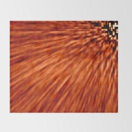 Burnt Orange Pixel Wind Throw Blanket