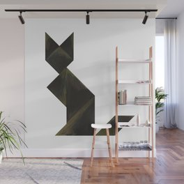 Tangram Black Cat Wall Mural