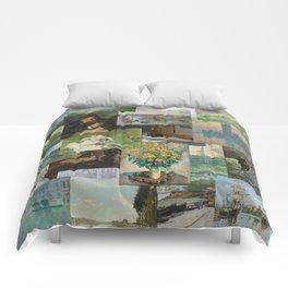 Artist Claude Monet Million Dollar Painting Collage Quilt Comforters