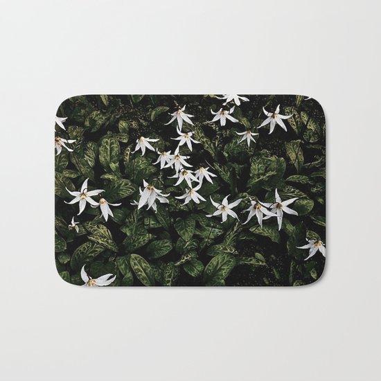White Fawn Lilies; Open Your Heart Bath Mat
