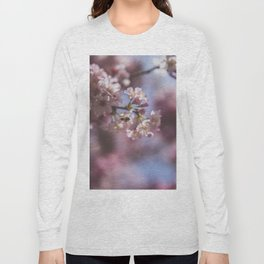 Bee with Cherry Blossoms Long Sleeve T-shirt