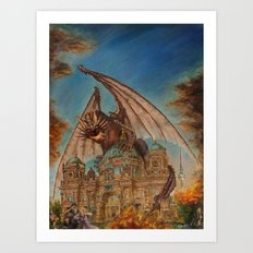 Attack on the Berliner Dom Art Print