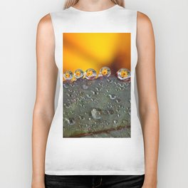 Dew Drop Flower Biker Tank