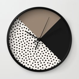 Dots and Colors - Brown Charcoal Wall Clock