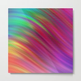 #14 Soft Fluid Animation. Twisted gradient abstract wavy twirl background 3D. Fractal geometric motion. Patterns motion background with Titles. Logo banner. Oblique and straight lines.   Metal Print