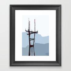 Sutro Tower Framed Art Print