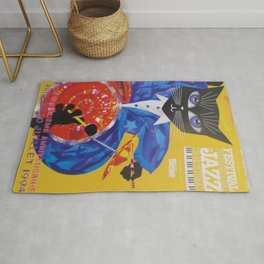 1994 Montreal Jazz Festival Cool Cat Poster No. 3 Gig Advertisement Rug