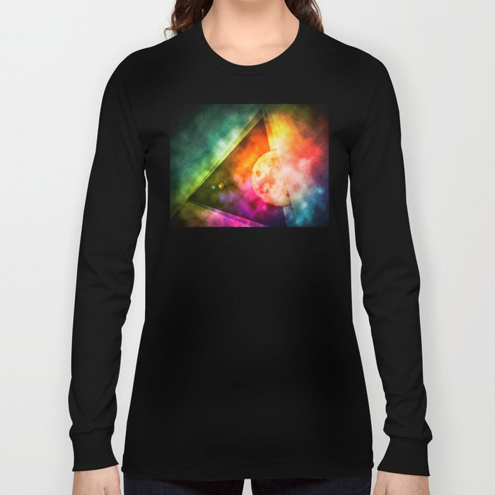 Abstract Full Moon Spectrum Long Sleeve T-shirt