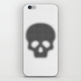 Halftone Skull iPhone Skin