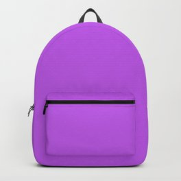 Tyrian Purple Simple Solid Color All Over Print Backpack