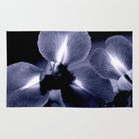 iris Area & Throw Rugs featuring Iris by KunstFabrik_StaticMovement Manu Jobst