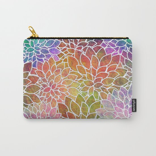 Floral Abstract 6 Carry-All Pouch