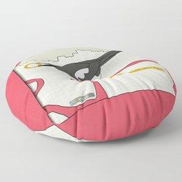 Eurasian Magpie Floor Pillow
