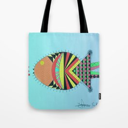 the tamborin fish or puffer fish Tote Bag