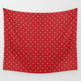 Red and yellow pattern with rhombs Wall Tapestry