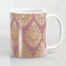 Burgundy rose gold elegant damasque Coffee Mug
