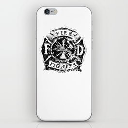 Fire Fighter Badge iPhone Skin