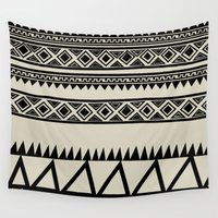 zebra Wall Tapestries featuring MALOU ZEBRA by Aztec
