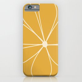 Daisy Line Abstract - Golden Yellow iPhone Case