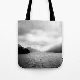 Landscape Photography   Waterton Lake   Alberta   Foggy   Clouds   Sky  Tote Bag