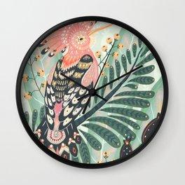 Hoopoe Bird Wall Clock