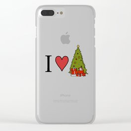 I Love Christmas Clear iPhone Case