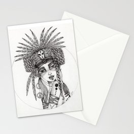 JennyMannoArt Graphite Drawing/Aiyana Stationery Cards