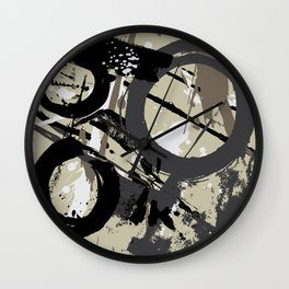 Enso Groove D by Kathy Morton Stanion Wall Clock