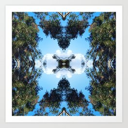 Trees + Clouds Art Print
