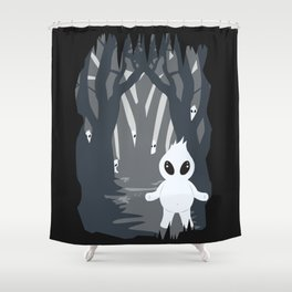 Ignis Fatuus (Fuego fatuo - vector illustration) Shower Curtain