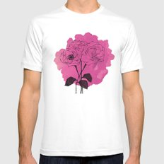 spray roses White MEDIUM Mens Fitted Tee