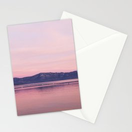 Rose Colored Dream of Lake Tahoe Stationery Cards