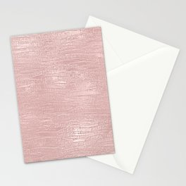 Metallic Rose Gold Blush Stationery Cards