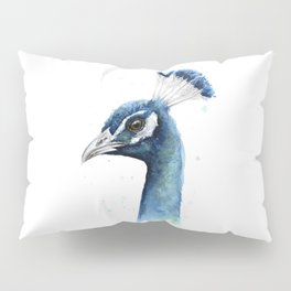 Peacock Watercolor Exotic Bird Animals Pillow Sham